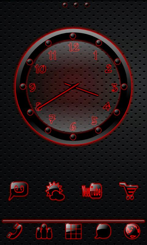 Sleek Ebony Red GO Theme - screenshot