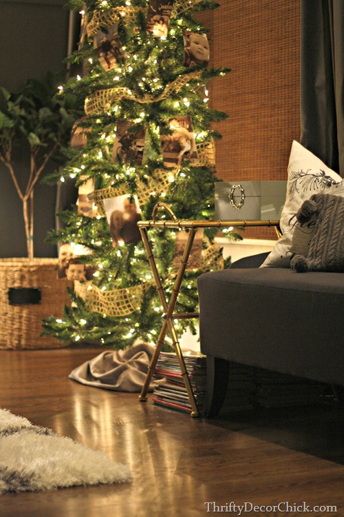 picture tree at Christmas