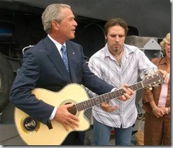 George Bush and guitar