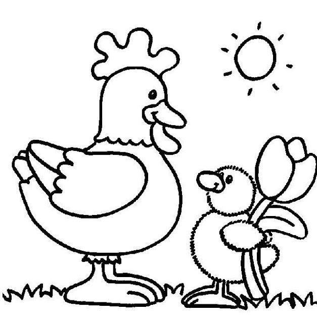 Dibujos De Gallos Y Gallinas Para Colorear Actividades Para Niños