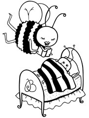 bees-coloring pages-colorir-abelhas