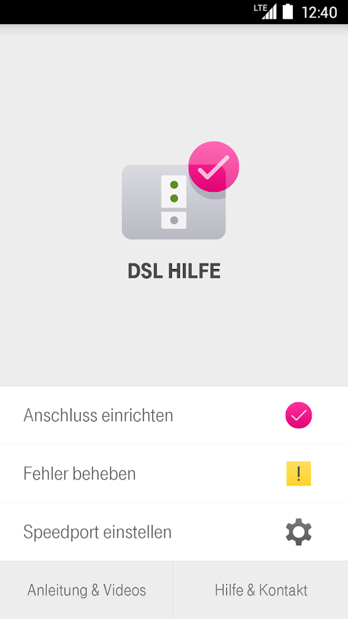 DSL Hilfe- screenshot