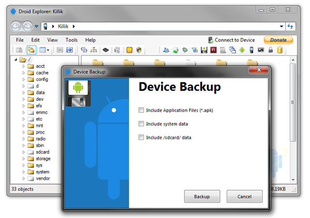 adb -d shell reboot recovery: Droid Explorer 0 8 8 7 Backup Feature