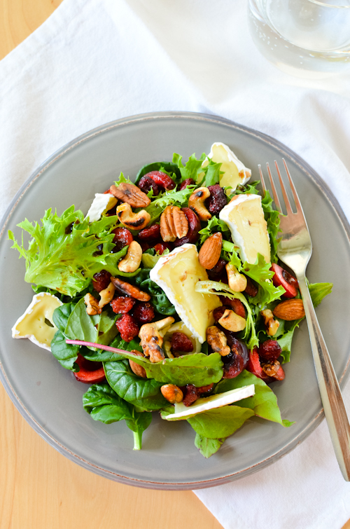 Pear And Brie Salad With Cashews And Dried Cranberries Recipes ...