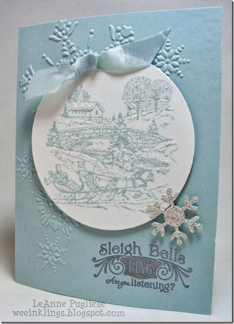 LeAnne Pugliese WeeInklings Merry Monday 80 Sleigh Bells Ring Christmas Stampin Up