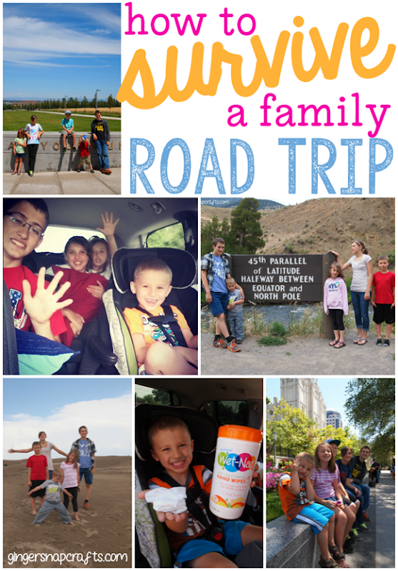 How to Survive a Family Road Trip with a Smile ) at GingerSnapCrafts.com #showusyourmess #pmedia #ad