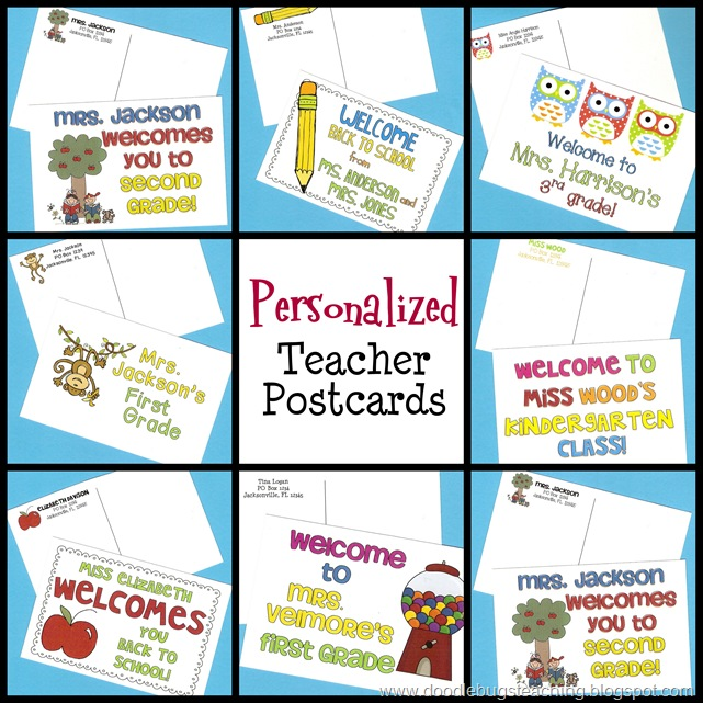 The Resourceful Apple: Back To School Postcards