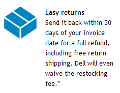 Dell's friendly return policy