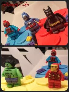 Ahmami Cafe Lego Superheroes Cake Batman Spiderman The
