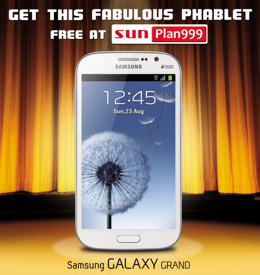 sun plan 999 samsung galaxy grand specifications