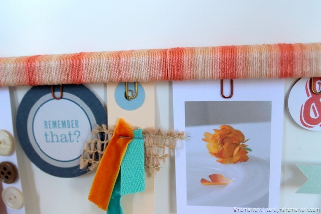 Twine Wrapped Inspiration Clipboard via homework (6)