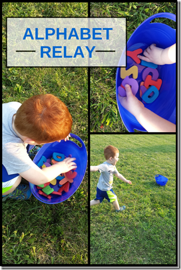 Learn alphabet letters with Alpahbet Relay Kids Activiites