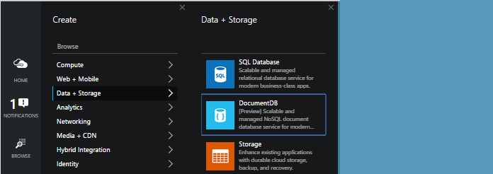 Azure - Data   Storage page