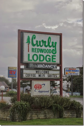 Curly Lodge Sign