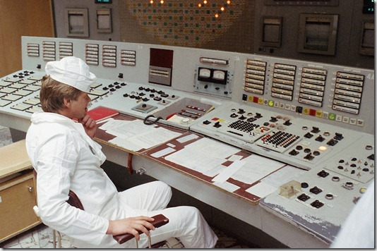 Operator at the Chernobyl Nuclear Power Plant