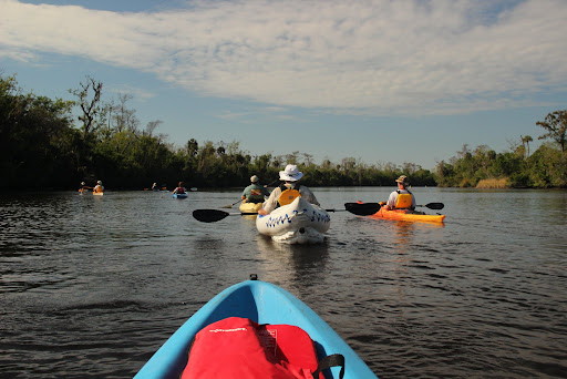 Paddling with the Kayakers at Riverside RV Park in Port Charlotte