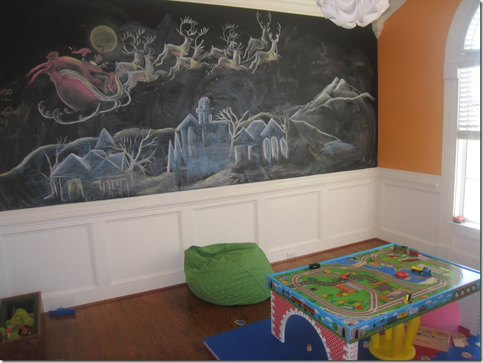 Chalkboard Art of Santa Claus