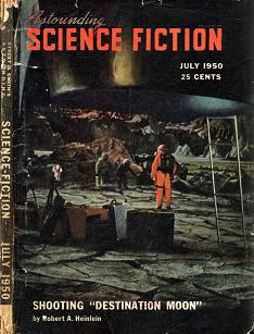 Cover of Astounding Science Fiction magazine, July 1950 edition