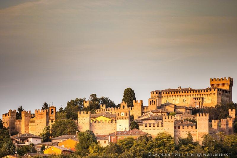 castello di gradara at sunset