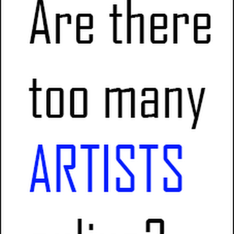 Are There too Many Visual Artists Online?