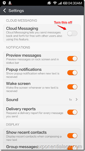 How To Turn Off Cloud Messaging