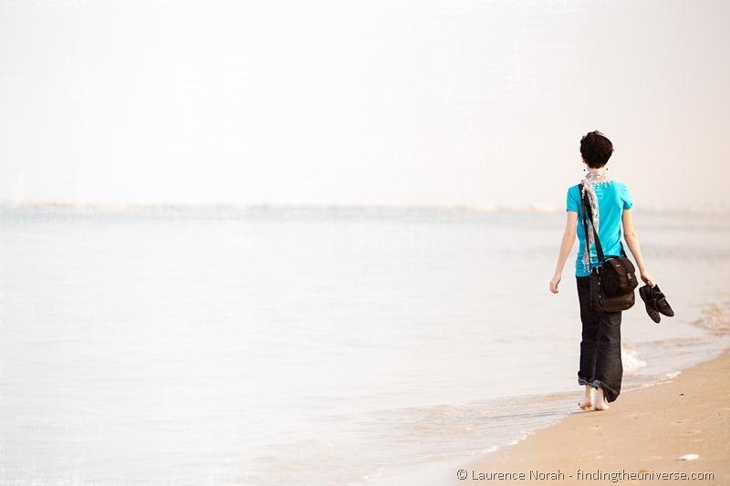 girl on beach pesaro italy