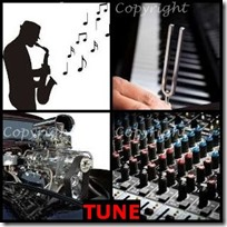 TUNE- 4 Pics 1 Word Answers 3 Letters