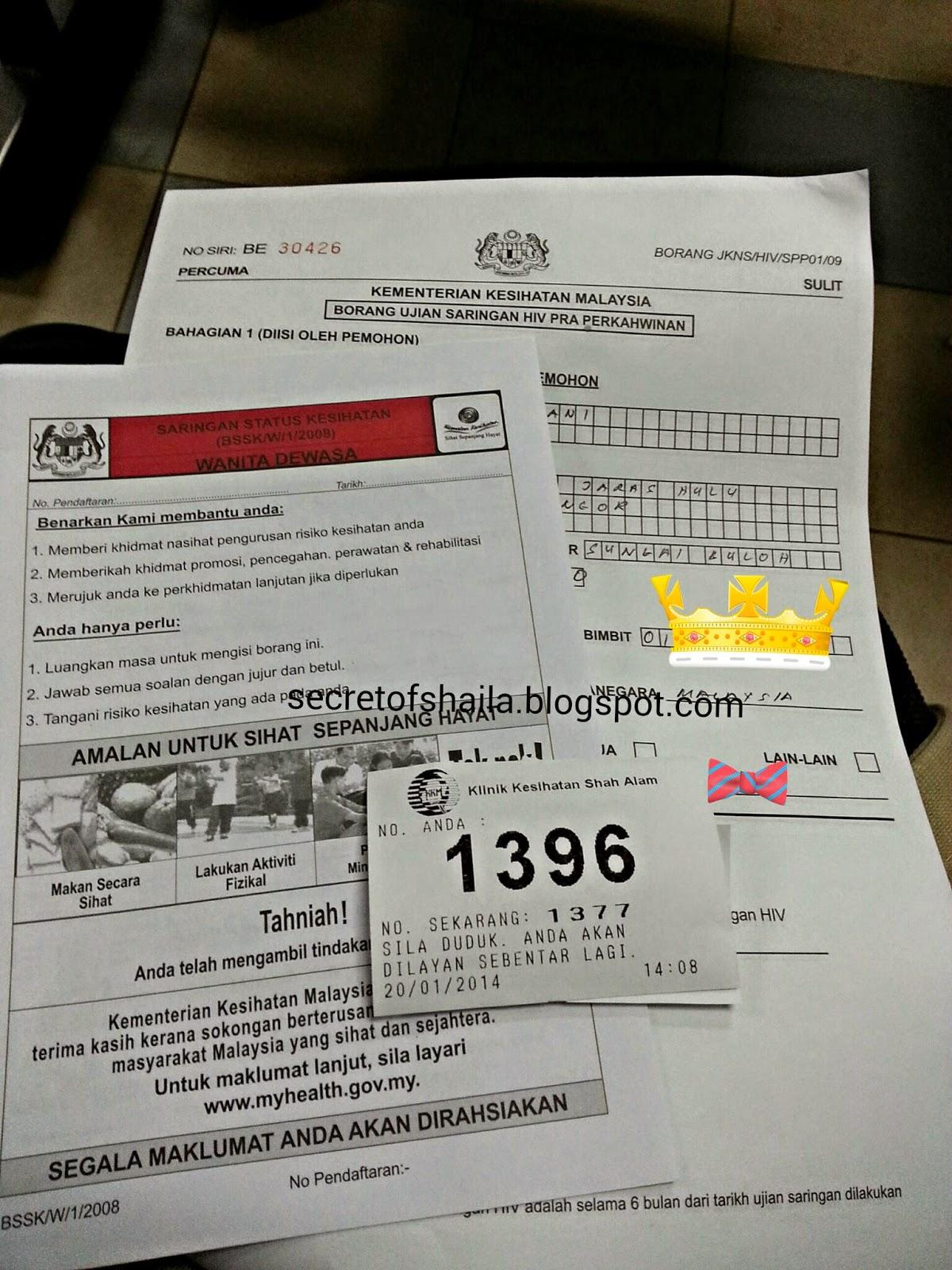 Shazillah Sani Ujian Saringan Hiv Untuk Pra Perkahwinan Di Selangor