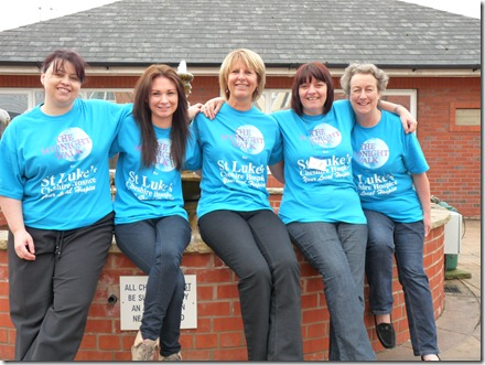 The St Luke's Fundraising Team Model the New 2012 Midnight Walk T-Shirts