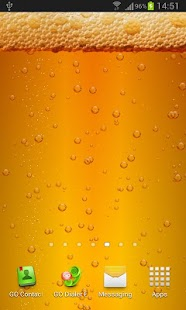 Beer & Battery level LWP screenshot