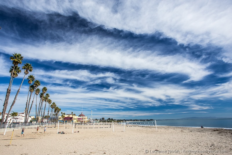 santa cruz beach pier sky volleyball california