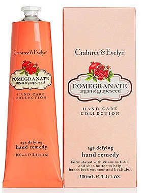 Crabtree & Evelyn Pomgranate, Argan & Grapeseed Age Defying Hand Remedy (100ml, $45)