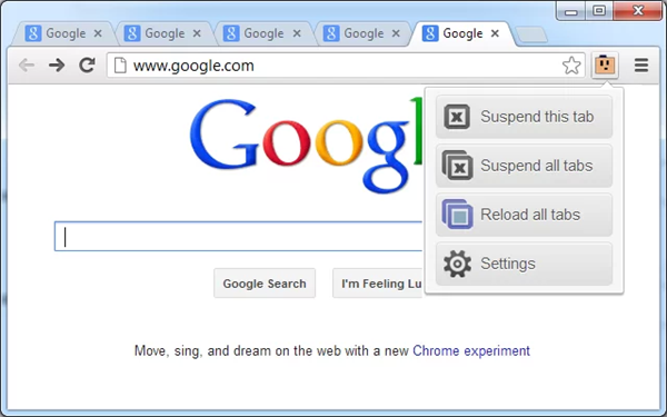 Surfer avec Chrome en consommant un minimum de RAM