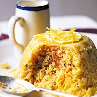 Passion Fruit And Lemon Steamed Pudding.