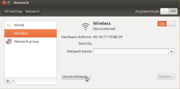 Set up Ubuntu Laptop as WiFi Hotspot