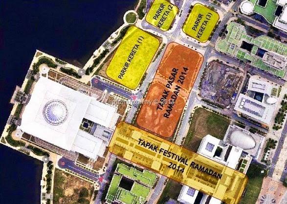 peta lokasi pasar ramadhan putrajaya