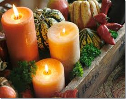 candles thanksgiving
