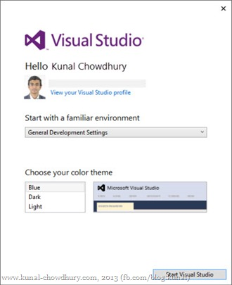 Start with Visual Studio 2013