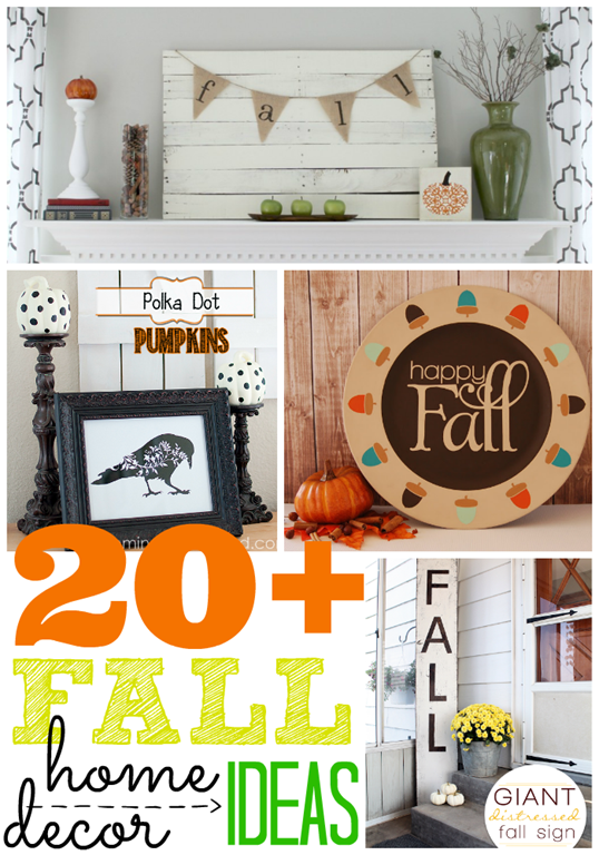 Over 20 Fall Home Decor Ideas #gingersnapcrafts #fall #homedecor #linkparty #features