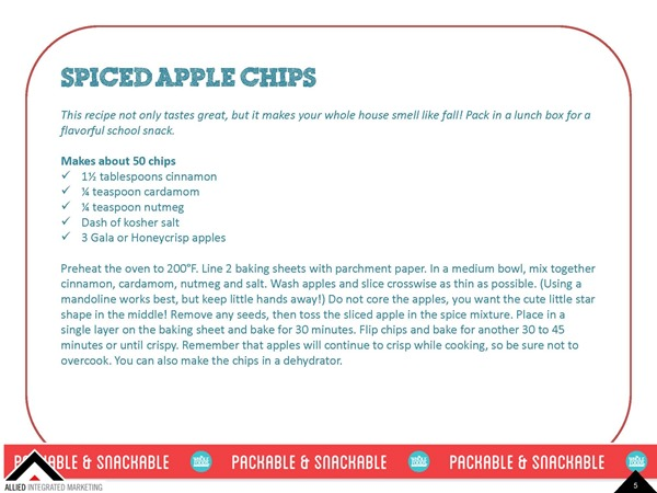 Spiced Apple Chips - Healthy Back To School Snacks