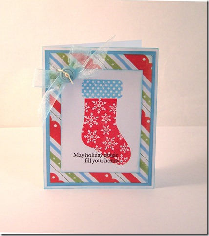 Xmas stocking card