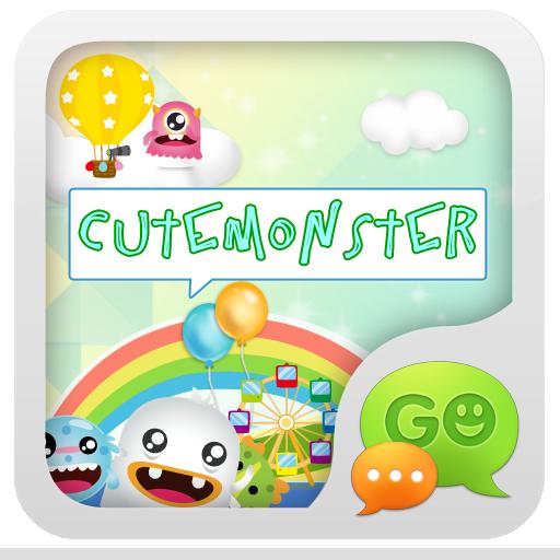 GO SMS Pro CuteMonster ThemeEX 通訊 App LOGO-APP試玩
