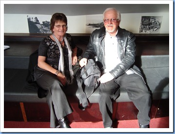 Phyllis and Gavin Prentice (Break Thru) in the Foyer to The PumpHouse Theatre prior to start of the Concert. Photo courtesy of Peter Littlejohn.