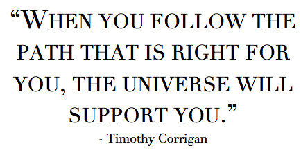 Timothy Corrigan Quote via La Dolce Vita