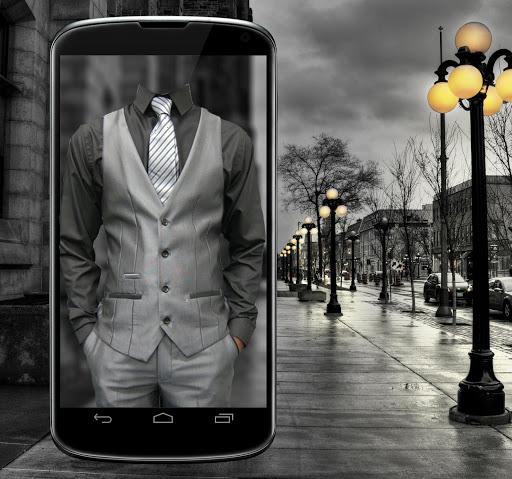 倫敦男子西裝的照片