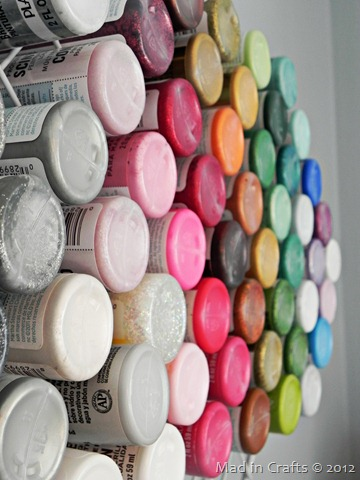 DIY craft paint storage