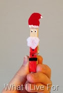 Santa Clothespin Ornament
