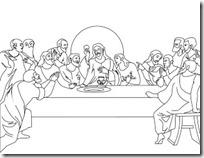 ultima cena dibujos colorear (6)