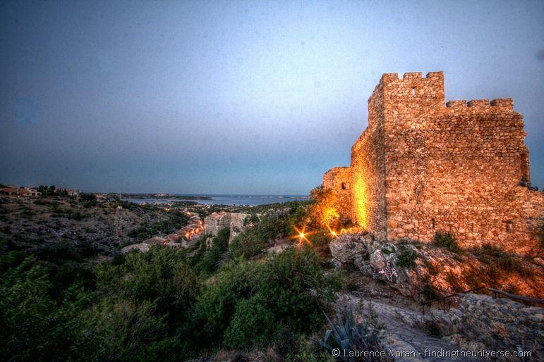 Fitou castle sunset evening
