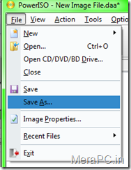 Saving the bootable Image